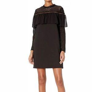 Kensie Ruffle lace little black dress